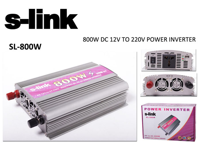 S-link SL-800W 800W Çakmaktan Power Inverter