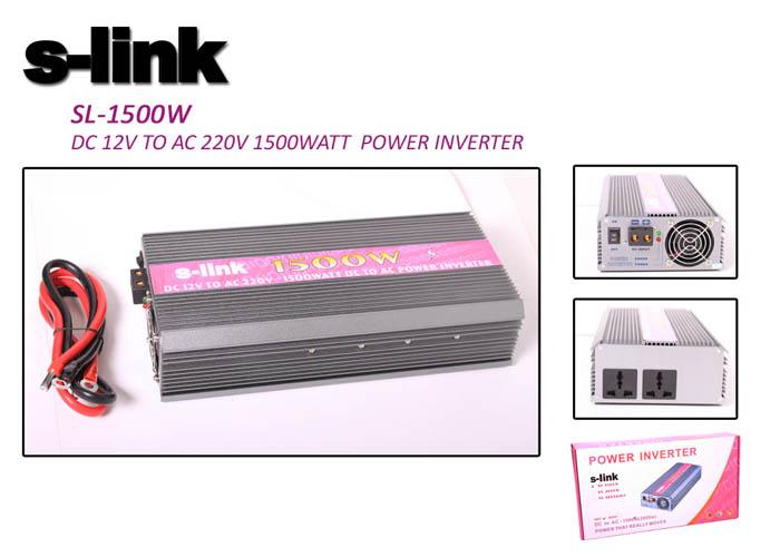 S-link SL-1500W 1500W DC12V-AC230V İnverter
