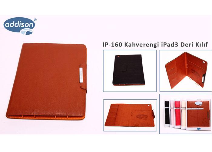 Addison IP-160 Kahverengi iPad3 Deri Kılıf