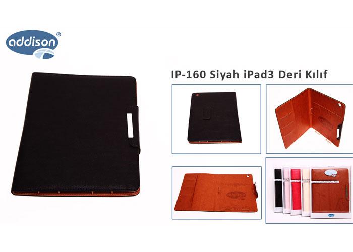 Addison IP-160 Siyah iPad3 Deri Kılıf