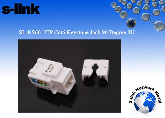 S-link SL-KS60 UTP CAT6 Kestone Jack3U 90 Der