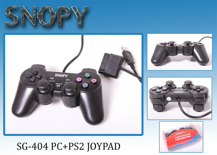 Snopy SG-404 USB/PS2 Çift Titreşimli Joypad