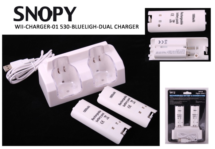 Snopy WII-CHARGER-01 530 Blueligh Dual Charger