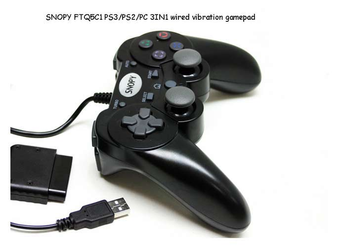 Snopy FTQ5C1 PC/PS2/PS3 3 in 1 Joypad