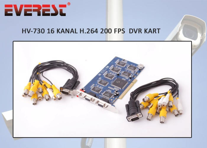 Everest HV-730 16Ch Image 200FSP H.264 DVR Pc Cards