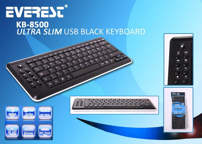 Everest KB-8500 Siyah/Beyaz Usb Q Multimedia Klavye