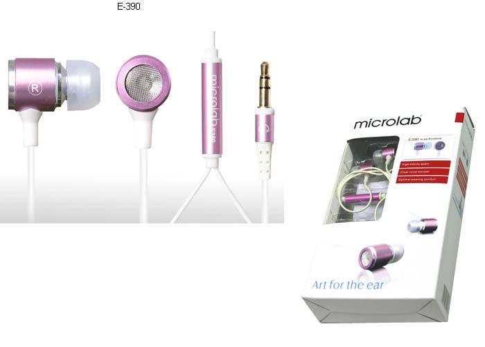 Microlab E390 Mobil Telefon Uyumlu Kulak içi Mor Mikrofonlu Kulaklık