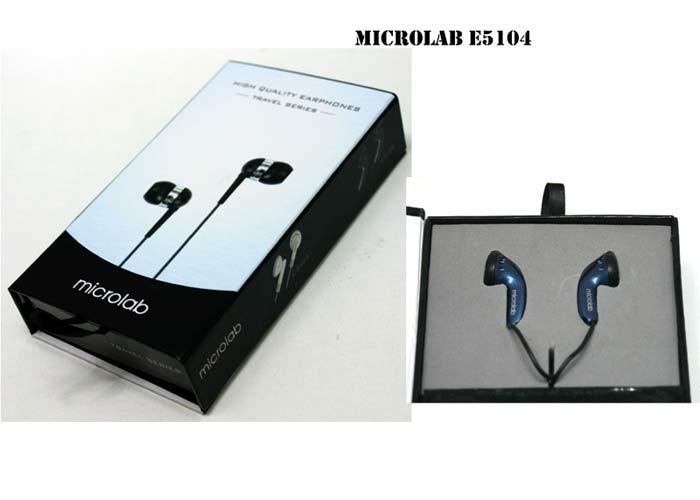 Microlab E5104 Mobil Telefon Uyumlu Siyah Mikrofonlu Kulaklık