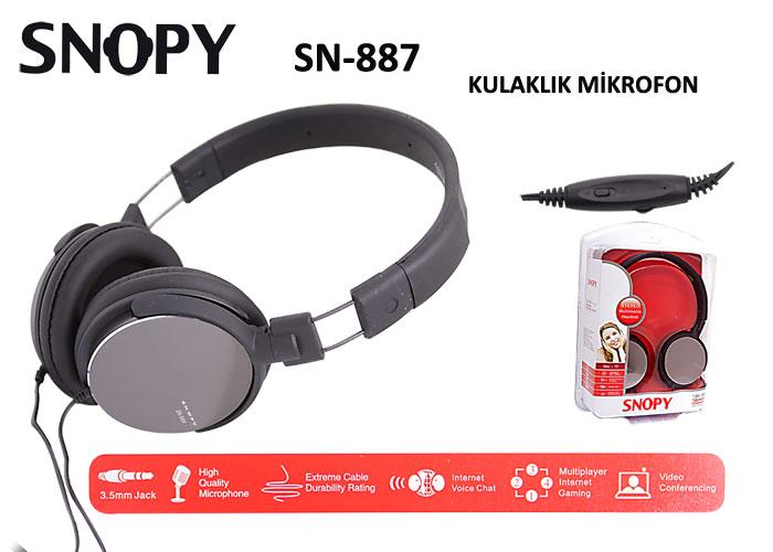 Snopy SN-887 (Mirror) Mikrofonlu Kulaklık