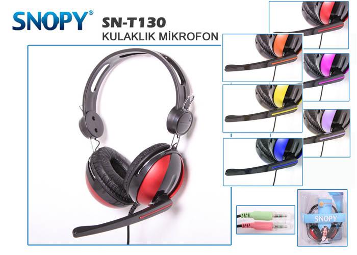 Snopy SN-T130 Mavi Mikrofonlu Kulaklık