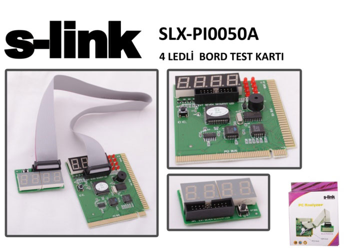 S-link SLX-PI0050A 4 Ledli Board Test Kartı