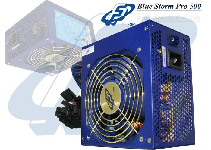 Fsp BLUESTORM PRO-500 Real-500W 80 Plus Aktif PFC 12cm Fan Power Supply