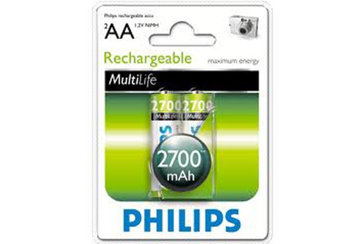 Philips R6B2A270/97 2li Şarj Edilebilir Pil