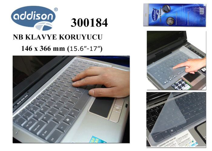 "Addison 300184 15.6""-17"" Notebook Klavye Koruyucu"