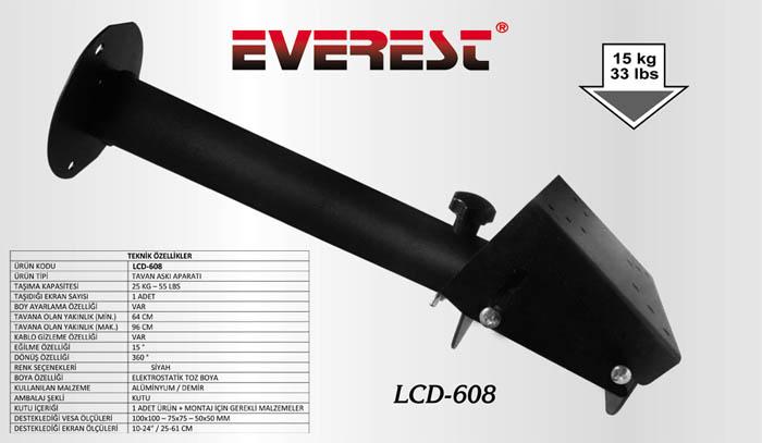 Everest LCD-608 50*50 10-24 Uz.Tavan Askı Aparatı