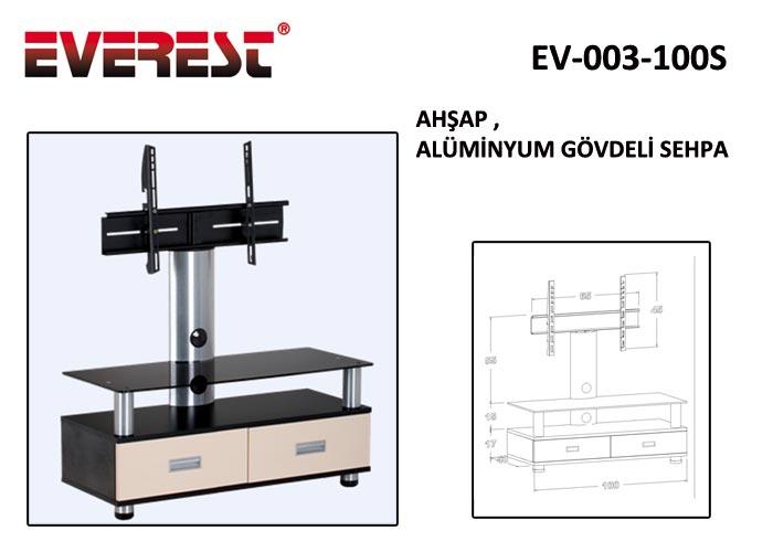 Everest EV-003-100S 100cm Ahşap Lcd Tv Sehpası