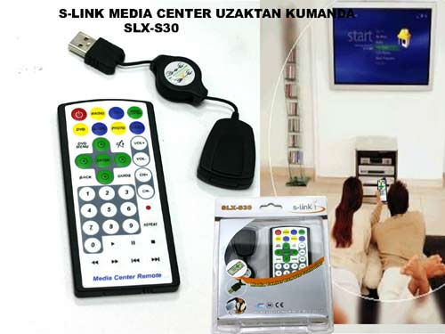 S-link SLX-S30 Media Center Uzaktan Kumanda