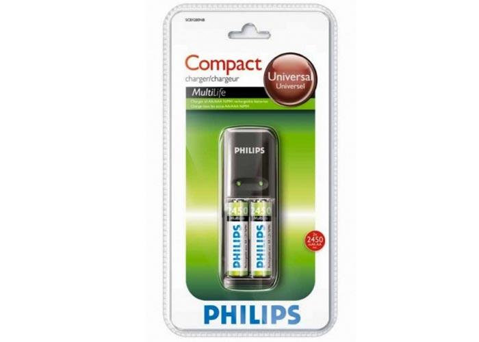 Philips SCB1280NB/12 SCB1292 2450Mah Pil + 2li Pil şarj cihazı