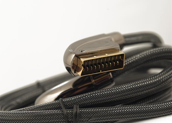 S-link SLX-M995 SCART 2m Gold+Metal Kablo
