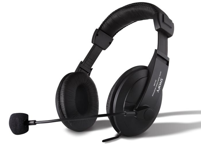 Snopy SN-4388 Leather Professional Headset with Microphone