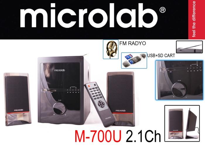 Microlab M700U 2+1 48W RMS Usb+SD+Fm Destekli Speaker