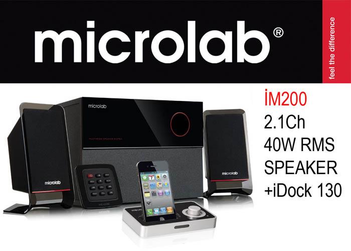 Microlab iM 200 2 + 1 40W RMS İdock 130 Speaker