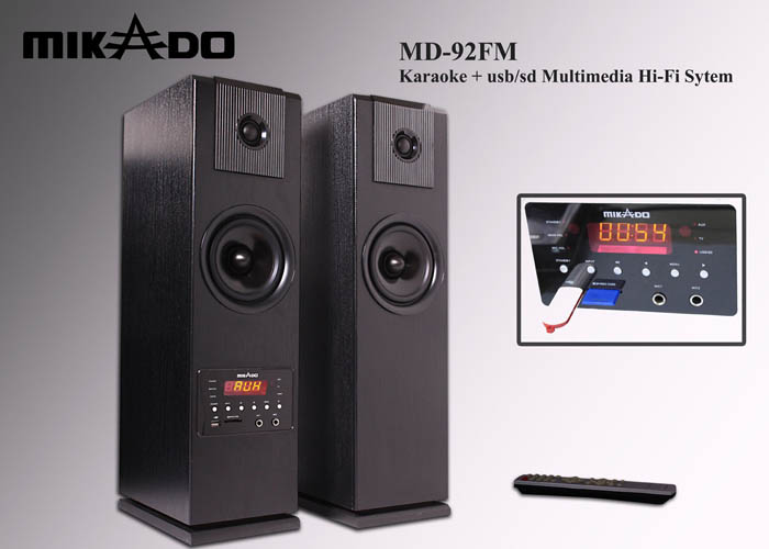 Mikado MD-92FM 2.0 Usb+SD+FM Radyolu Uzaktan Kuma AC 220V Speaker