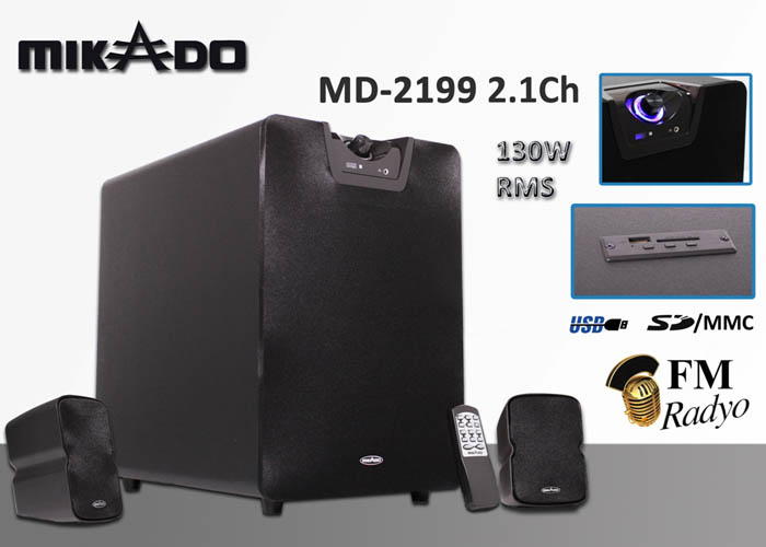 Mikado MD-2199 2+1 Usb+SD+Fm Destekli Speaker