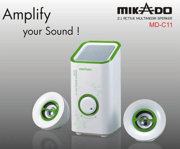 Mikado MD-C11 2+1 Beyaz/Yeşil Multimedia Speaker