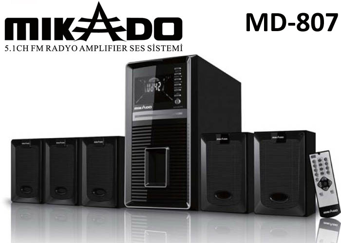 Mikado MD-807 5+1 Usb+SD+FM Destekli Kumandalı Multimedya Speaker