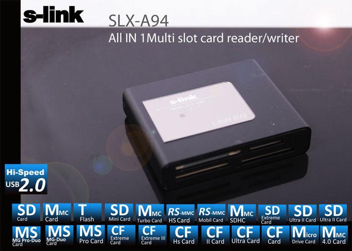 S-link SLX-A94 Usb Harici TF+M2 Tam Kart Okuyucu