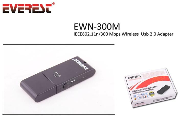 Everest EWN-300M 300 Mbps Usb Kablosuz Adaptör