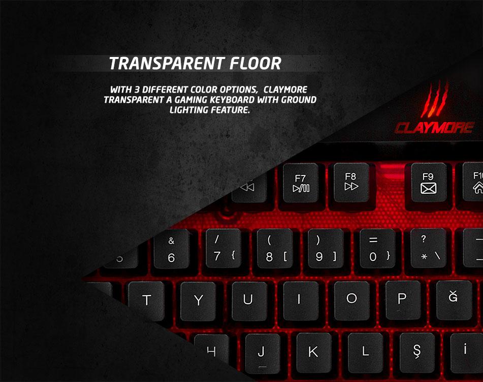 Rampage Claymore Black USB Gaming Q Multimedia Keyboard