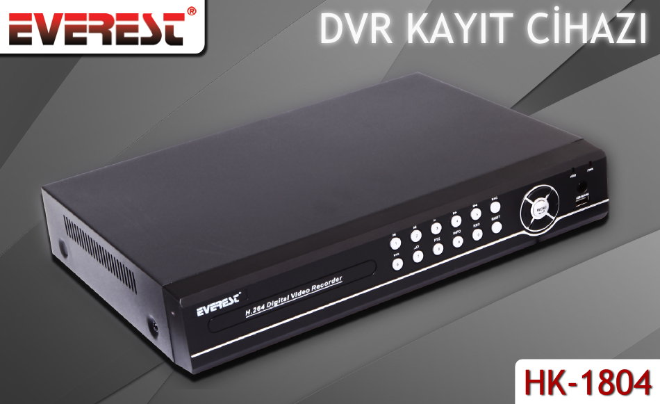 Everest AHD-808B 8Ch Görüntü 1080P 4Ch Ses AHD DVR Kayıt Cihazı